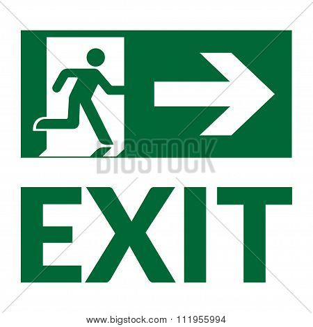 Exit Sign Green