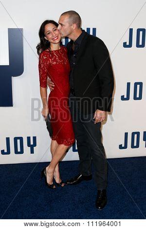 NEW YORK-DEC 13: Nigel Barker (R) and wife Cristen Barker attend the