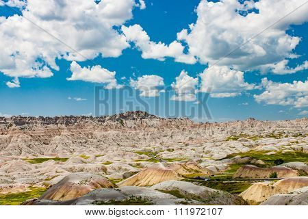 Scenic View Of The South Dakota Badlands