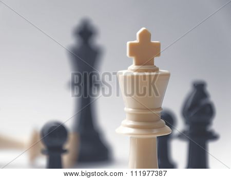 chess battle - the king - plastic chess pieces