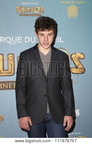 LOS ANGELES - DEC 09:  Nolan Gould at the Cirque Du Soleil's