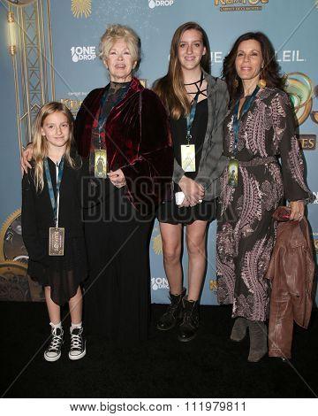 LOS ANGELES - DEC 09:  Connie Stevens, Tricia Leigh Fisher at the Cirque Du Soleil's