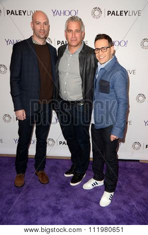 LOS ANGELES - DEC 14:  Justin Adler, Aaron Kaplan, Jason Winer at the An Evening with