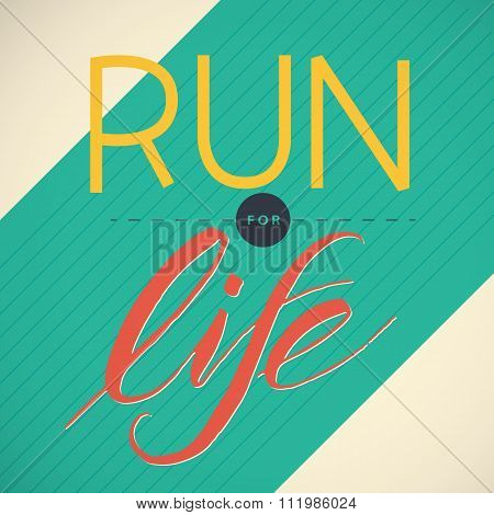 Vector illustration of running poster.