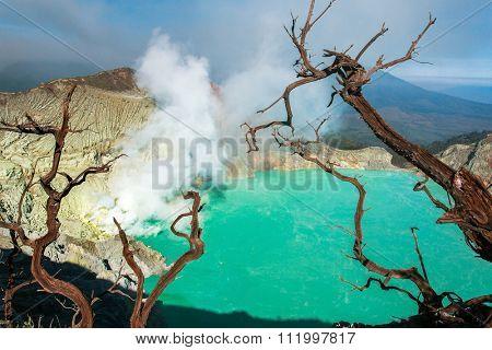 Kawah Ijen vulcano, Java, Indonesia