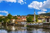Old town Sarajevo - Bosnia and Herzegovina - architecture travel background poster