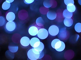 Blurred Blue Christmas Lights