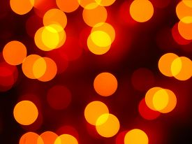 Blurred orange christmas lights