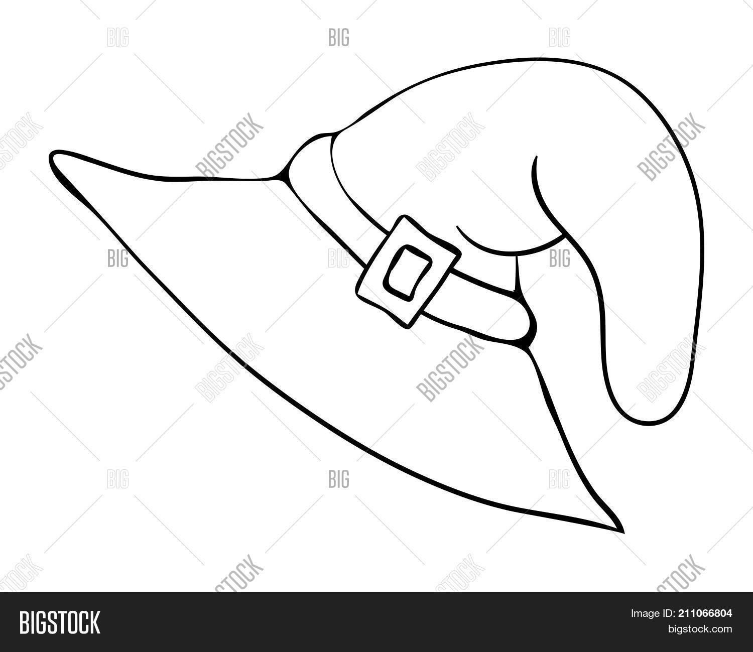 Witch Hat Cartoon Vector Photo Free Trial Bigstock