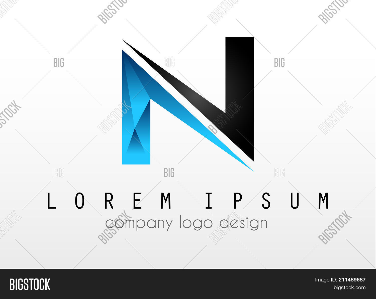 Creative Logo Letter N Design For Brand Identity Company Profile Or Corporate Logos With Clean