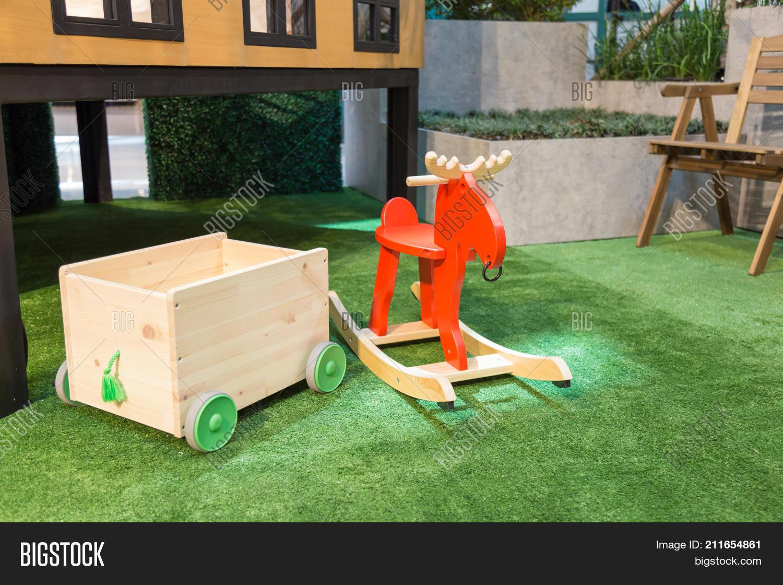 Toy Storage Wheels Red Image Photo