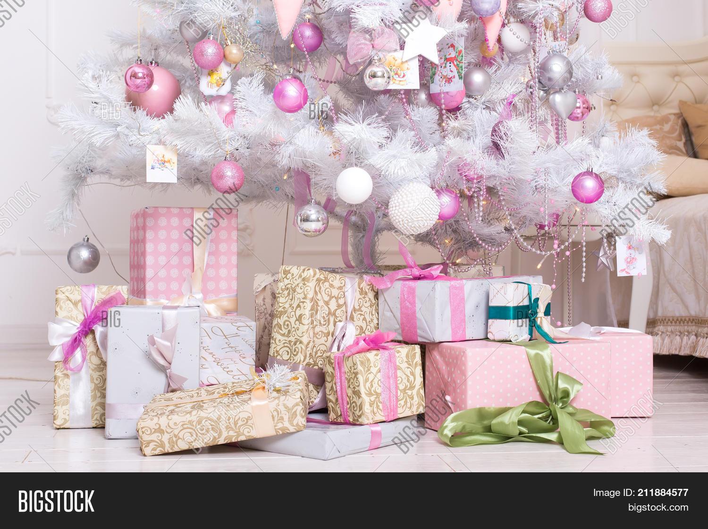 Giftboxes Pink White Image Photo Free Trial Bigstock