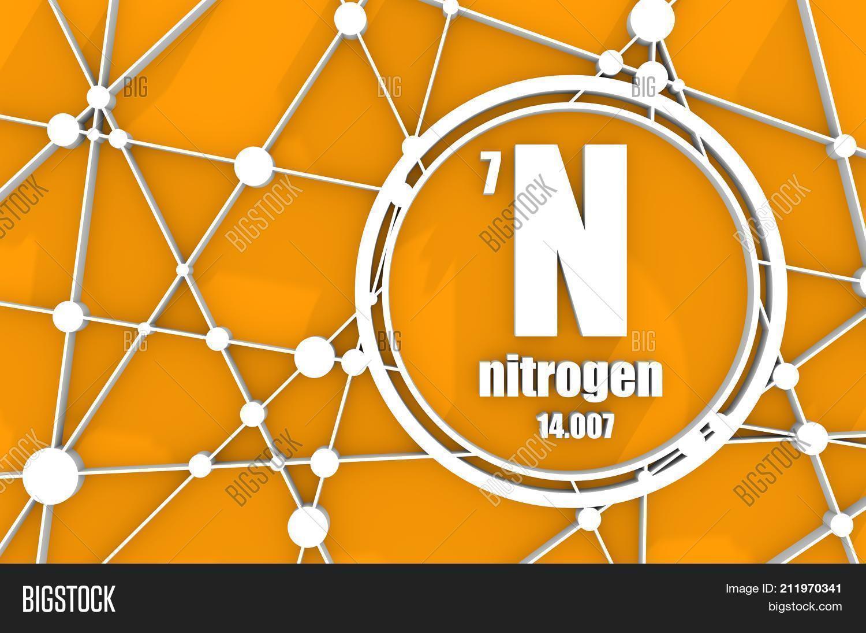 Nitrogen chemical image photo free trial bigstock nitrogen chemical element sign with atomic number and atomic weight chemical element of periodic urtaz Gallery