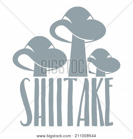 Shiitake logo. Simple illustration of shiitake vector logo for web