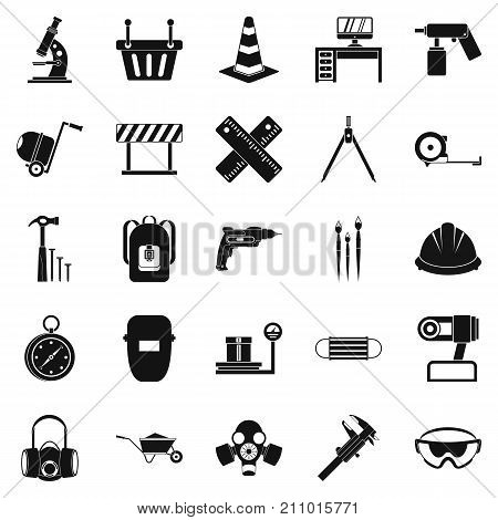 Rigging icons set. Simple set of 25 rigging vector icons for web isolated on white background