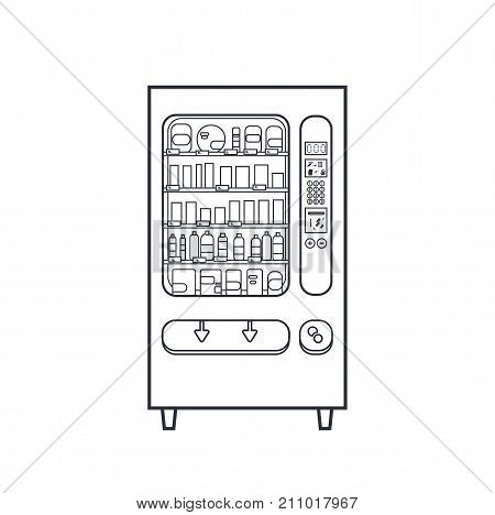 Lineart Vector Vending Machine