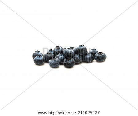 Blueberries Healthy Antioxidant Fruit Isolated On White