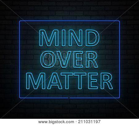 Mind Over Matter Concept.