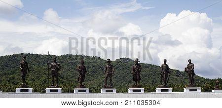 7 King Statues Hua Hin Thailand Ratchapak Park