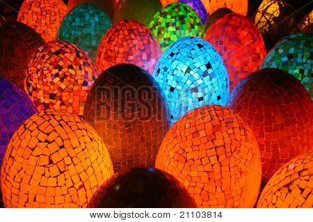 Colorful Oval Egg Shaped Lamps