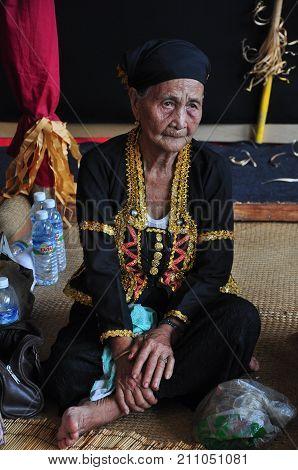 Kota Kinabalu, Malaysia - May 30, 2017: Bobohizan Or Bobolian Or High Priestess Or A Spirit Medium I