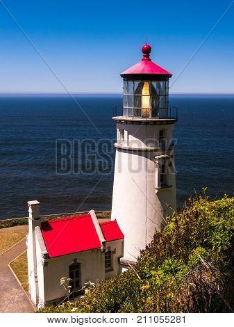 The Heceta Head Lighthouse in Oregon, USA
