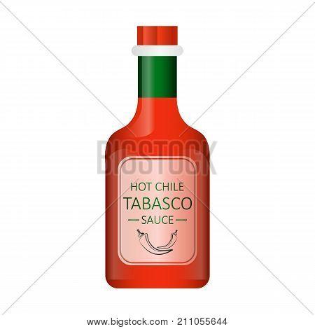 Vector illustration of tabasco chili pepper sauce