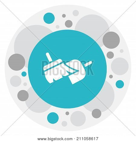 Vector Illustration Of Cleaning Symbol On Sweeping Tools Icon