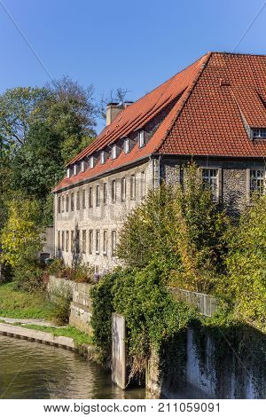 Historic House At A Canal In Hildesheim