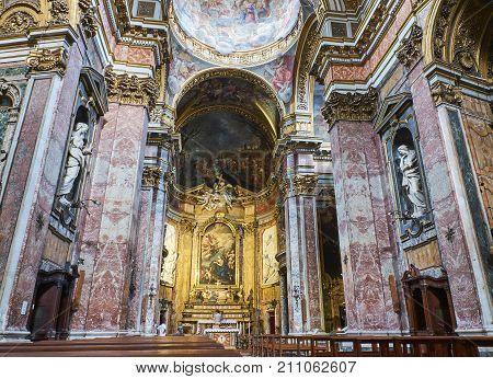 Chiesa Di Santa Maria Maddalena Church. Rome, Lazio, Italy.