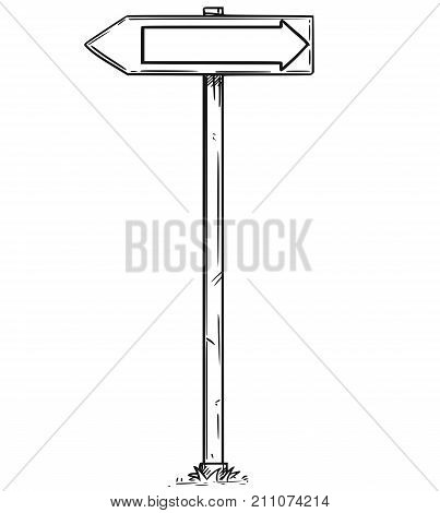 Drawing Of Traffic Arrow Two Direction Sign