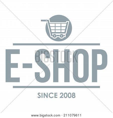 E shop logo. Simple illustration of e shop vector logo for web