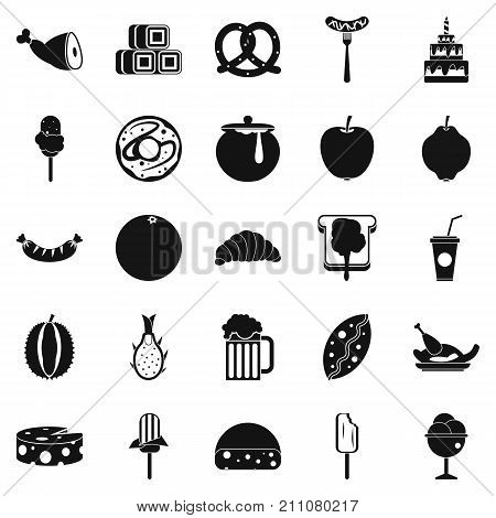 Treats icons set. Simple set of 25 treats vector icons for web isolated on white background