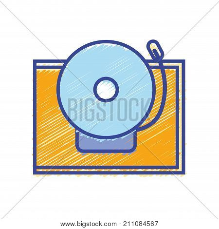school bell alert object design vector illustration