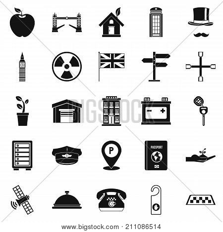 Cab icons set. Simple set of 25 cab vector icons for web isolated on white background