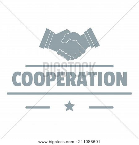 Cooperation logo. Simple illustration of cooperation vector logo for web