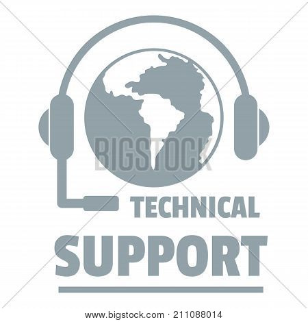 Technical support logo. Simple illustration of technical support vector logo for web