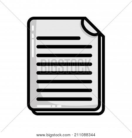 grayscale business document information to corporate informtion vector illustration