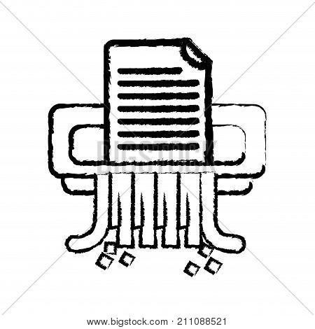 figure office paper shredder machine design vector illustration