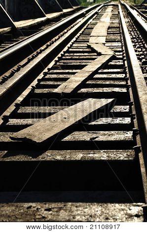 Rails And Sunset