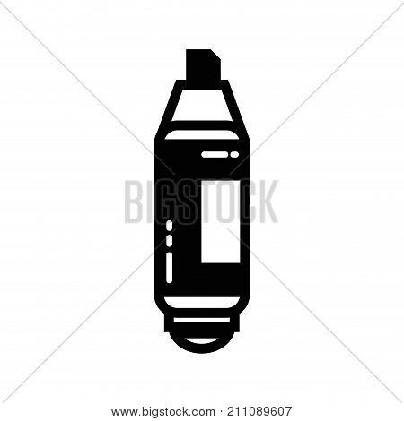 contour highlighter pen design to important document information vector illustration