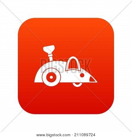 Clockwork mouse icon digital red for any design isolated on white vector illustration