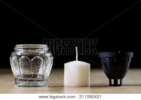 Ordinary Candle To Ignite On The Grave