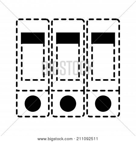 dotted shape books education objects design to study vector illustration