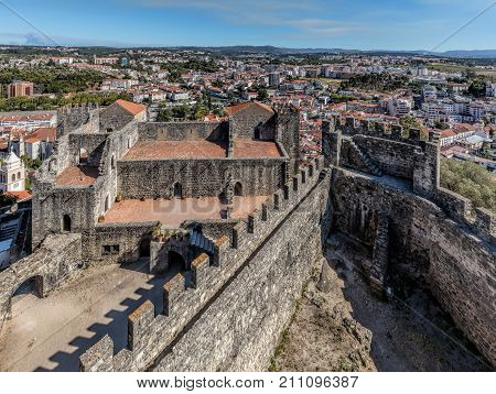Castle Of Leiria In Portugal