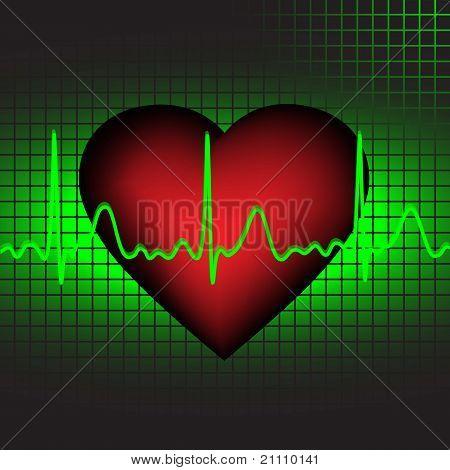 The heartbeat, vector illustration,