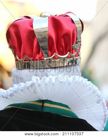 Old King With The Royal Crown Photographed From Behind