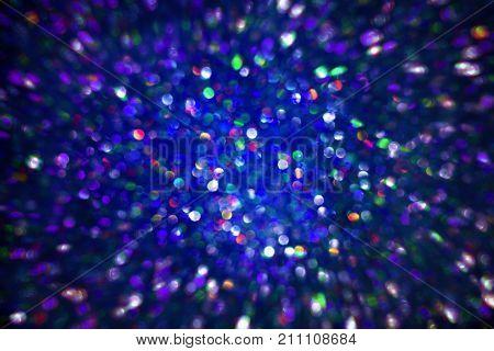 Sparkles Light Background De Focused Sparkling Blue Color Dust Bokeh