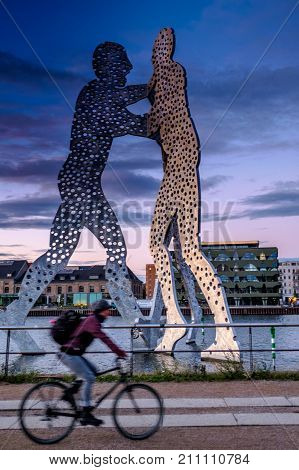 Berlin, Germany - September 20, 2015: The Molecule Men In Berlin, Germany