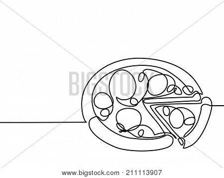 Big Pizza With Slice.